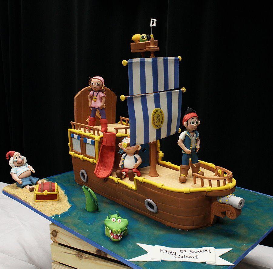 Jake and pirates boat cake bolos decorados jack e os