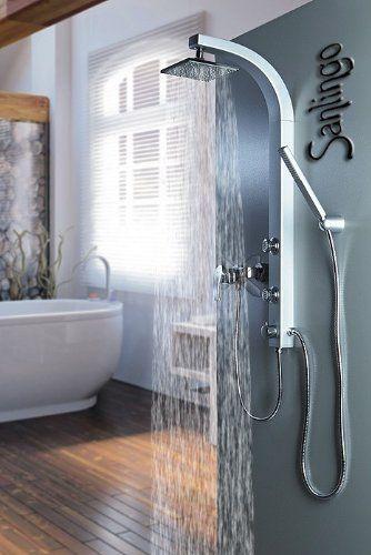 silbeners duschpaneel duschs ule mit massaged sen von sanlingo sanit r pinterest paneele. Black Bedroom Furniture Sets. Home Design Ideas