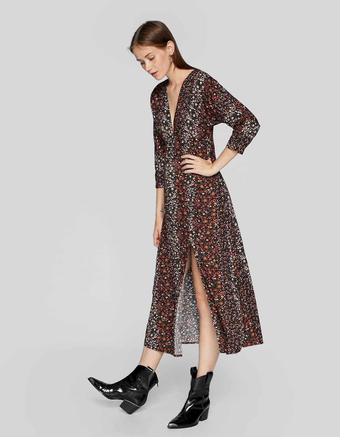 701cebabae7c Long printed dress - Dresses