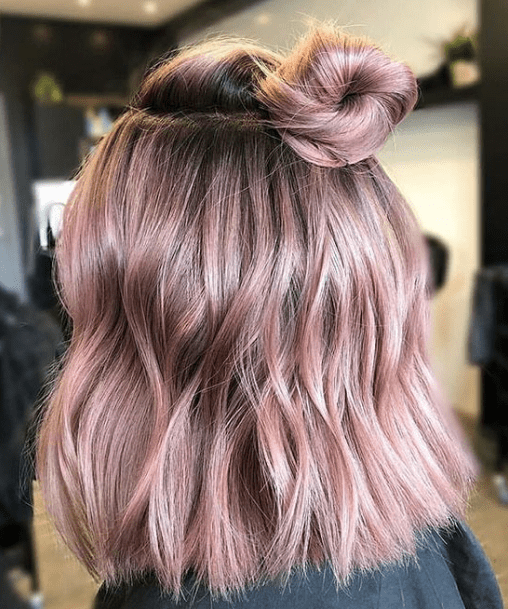 30 Amazing Short And Colored Hairstyle You Can Try Hair Styles Short Hair Bun Elegant Short Hair