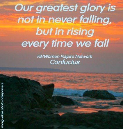 Rise every time you fall quote via www.facebook.com