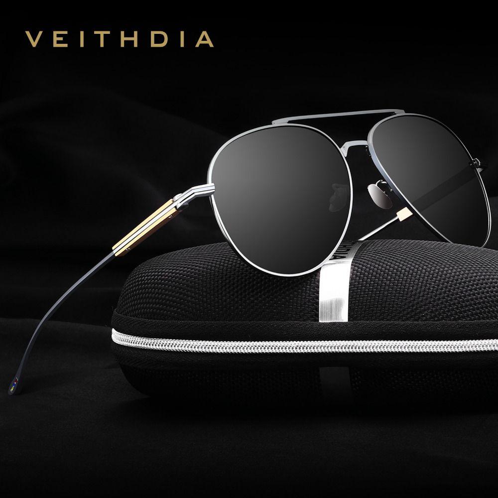 VEITHDIA - Lunettes de soleil - Homme Noir Gray-black 6RQLc8U5xj