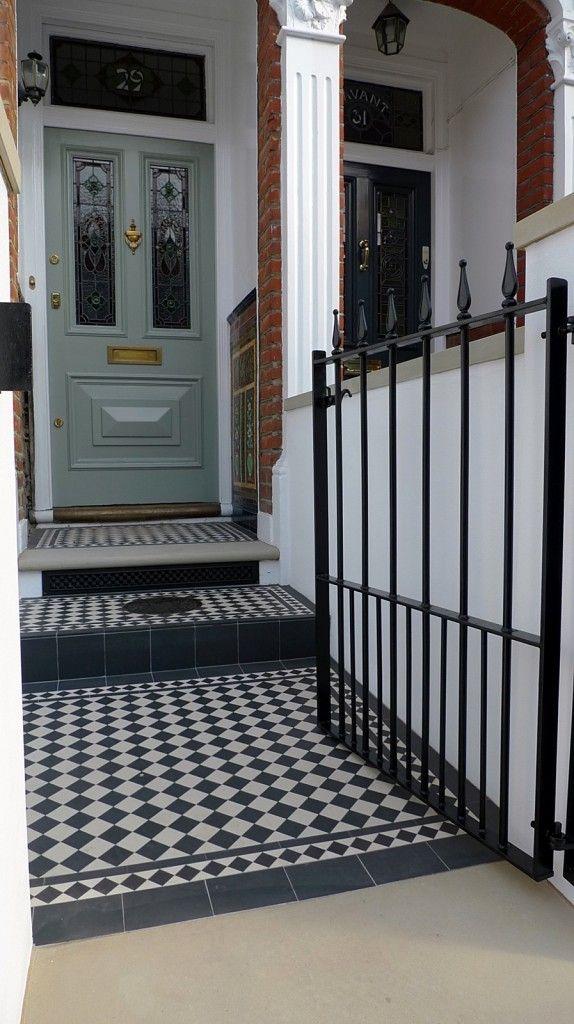 Front Garden Victorian Mosaic Tile Path Dulwich Clapham Battersea Fulham Chelsea London