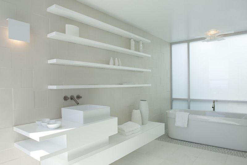 Modernes Komplett Weißes Badezimmer