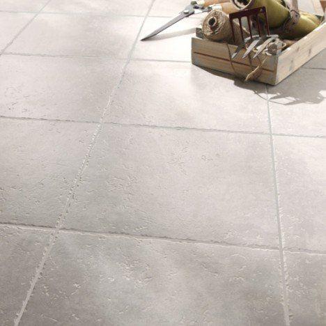 Carrelage sol et mur gris clair effet pierre Michigan l.34 x L.34 cm ...