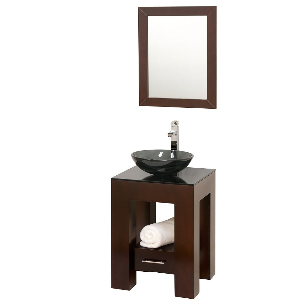Wyndham Collection Wc Ms005 Amanda 22in Vanity Set In Espresso