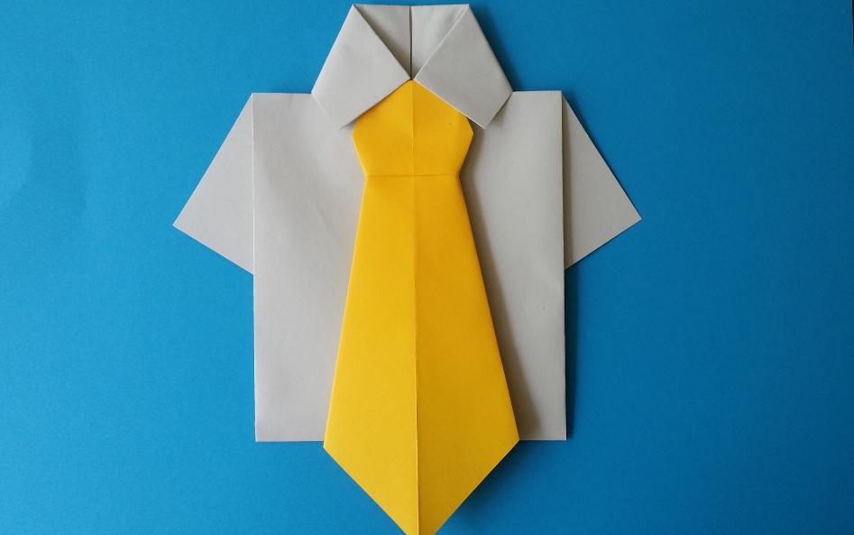 Открытка оригами для мужчин
