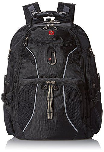 "TSA-Friendly Black Fits 15/"" Laptop Tablet Swiss Gear ScanSmart Laptop Backpack"