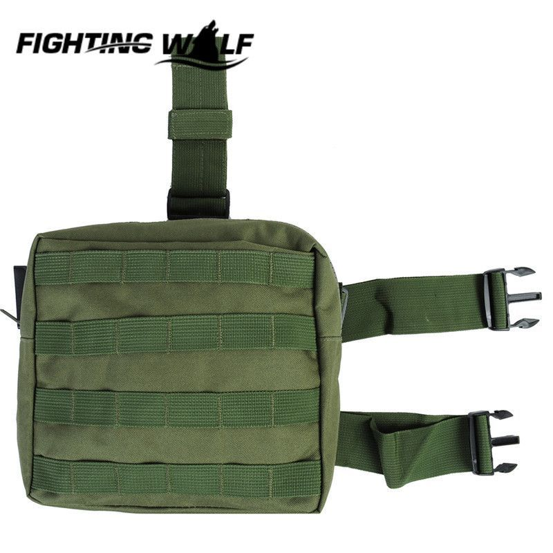 Molle Thigh Tactical Holster Drop Leg Plateform Universal Holster Panel Utility Pouch for Paintball Hunting Airsoft CS Field