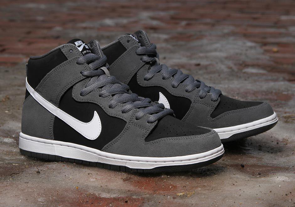 Nike SB Dunk High Dark Grey Black White 854851-010 | SneakerNews.com