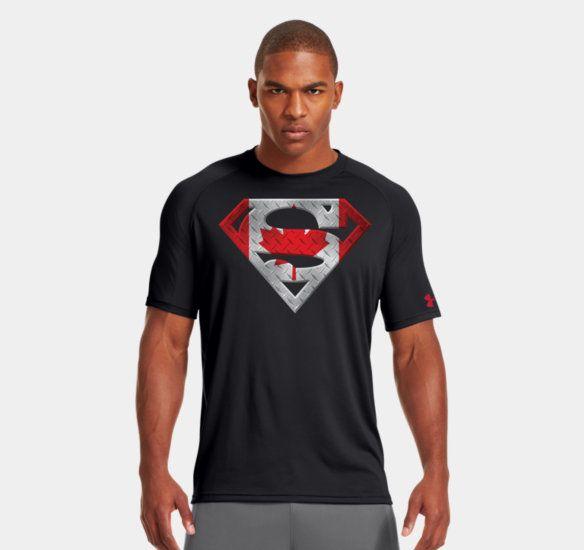 Tentáculo el estudio Resonar  Men's Canada Under Armour Superman T-Shirt | Superman t shirt, Workout gear  for men, Under armour men