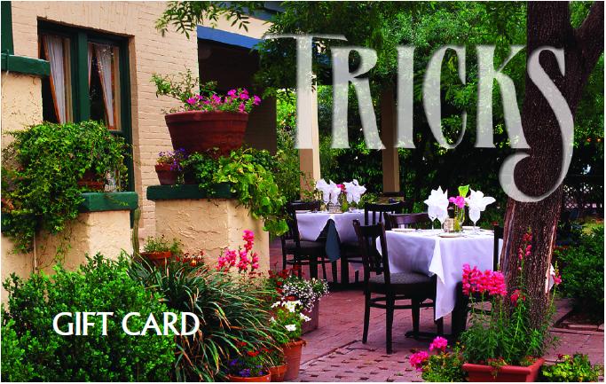 House Of Tricks Gift Card Tempe Scottsdale In 2019 Dinner Menu Dinner Menu