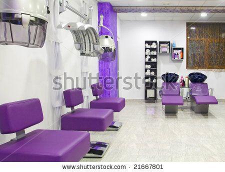 Interior de lujo de un sal n de belleza foto de archivo for Administrar un salon de belleza