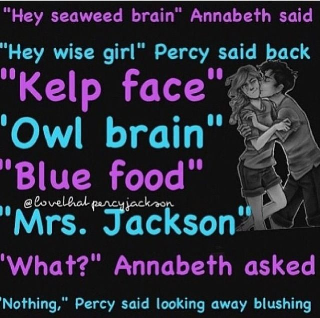 percabeth.so sweet!Please let this perfect match happen,Rick!