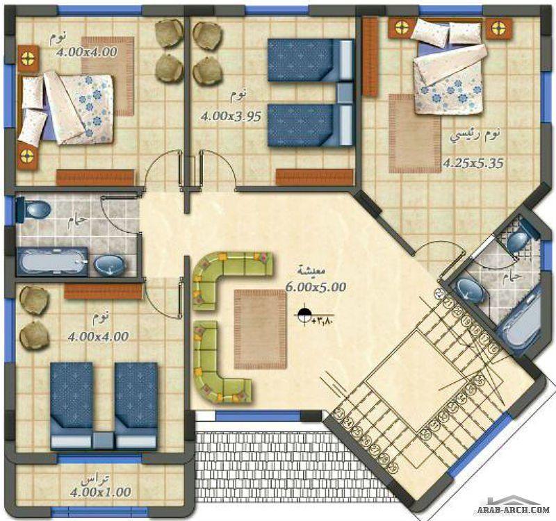 تصاميم رائعه فيلا الشروق مساحه الدور الارضى 158 متر مربع والدور الاول 150 متر مربع Affordable House Plans Family House Plans House Plans