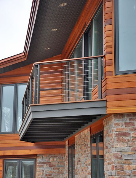 cable deck railing | Cable Railing with Wood Top | Deck ...