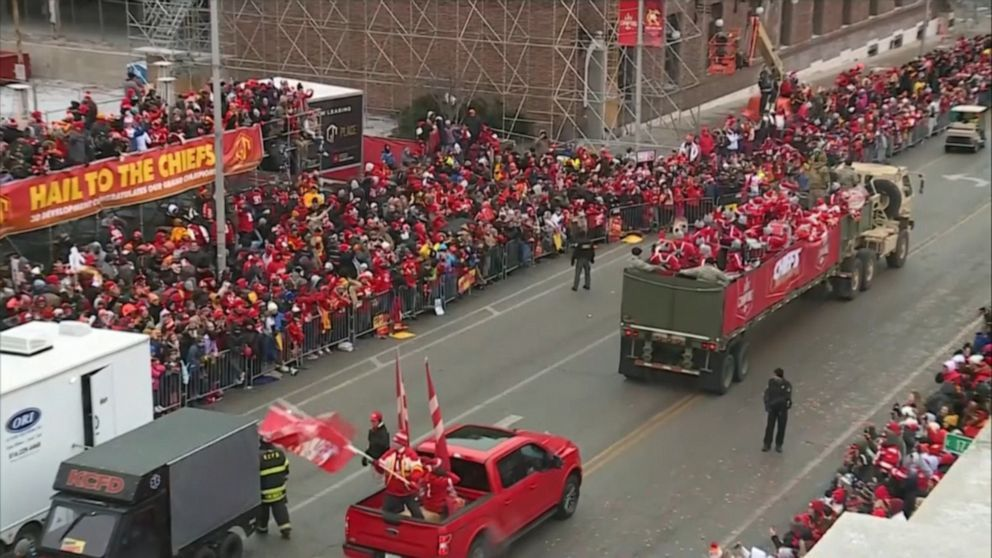 Super Bowl Champs Celebrate Victory At Parade National Football