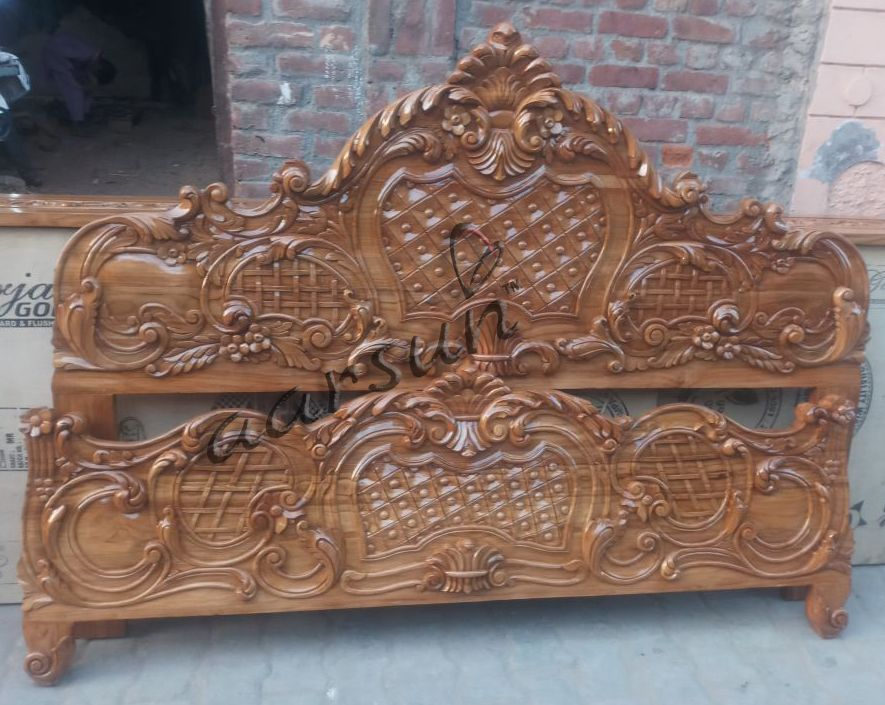 Handcrafted Wooden Bed For Bedroom Area From Saharanpur Bedroom Furniture Handmade Style R Wood Bed Design Wooden Bedroom Furniture Bed Furniture Design