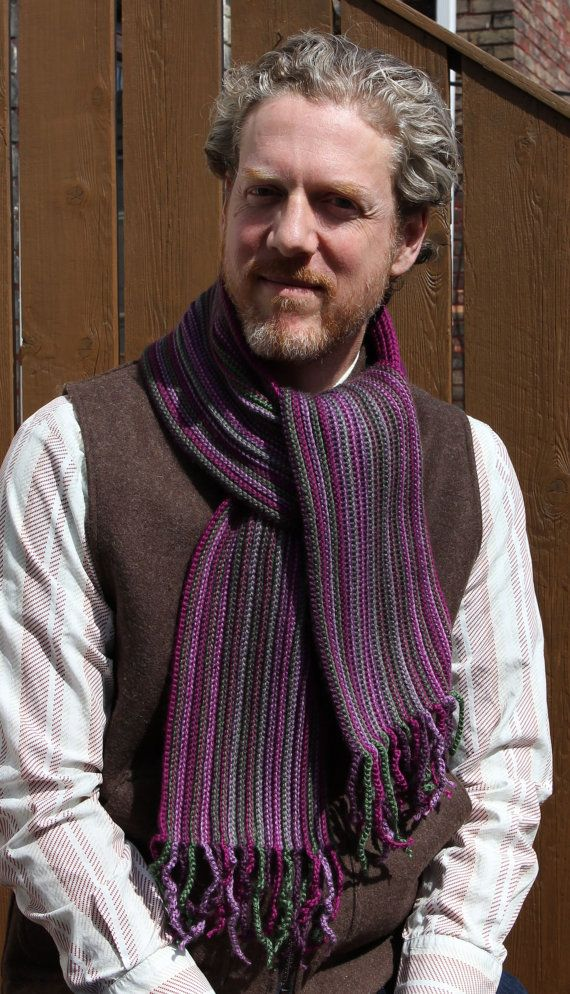CROCHET PATTERN Mens Scarf Crochet Scarf by KnotYourselfOut ...