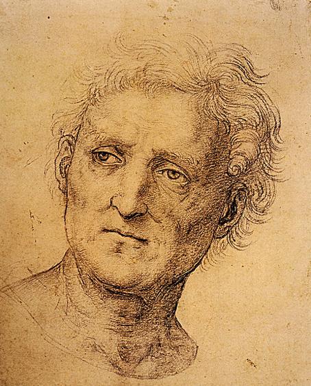 Raphael Santi Ou Sanzio 1483 1520 Dessin Etude Visage Homme 1504