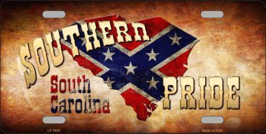 Southern Pride South Carolina Novelty Metal License Plate Tag Lp 7955 Southern Pride Pride Georgia