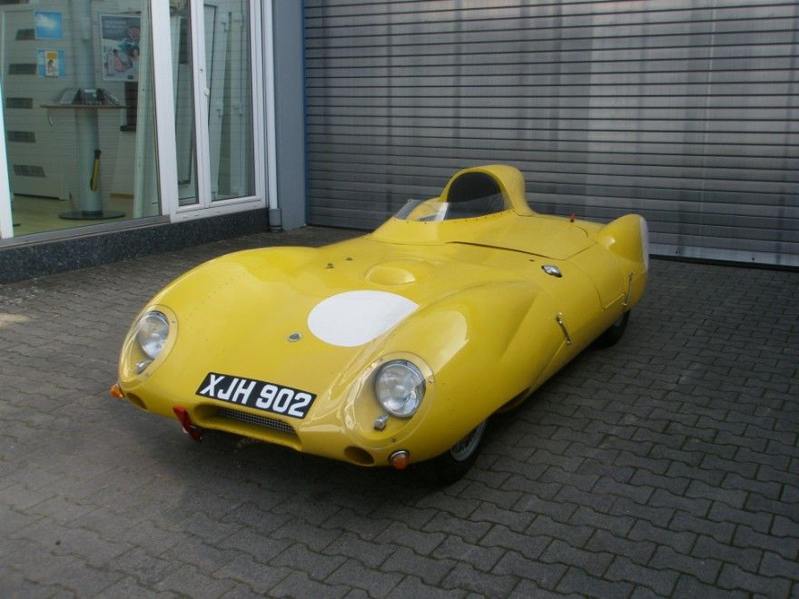 "1956 | Lotus 11 XJH 902 ""Yellow Peril"" 