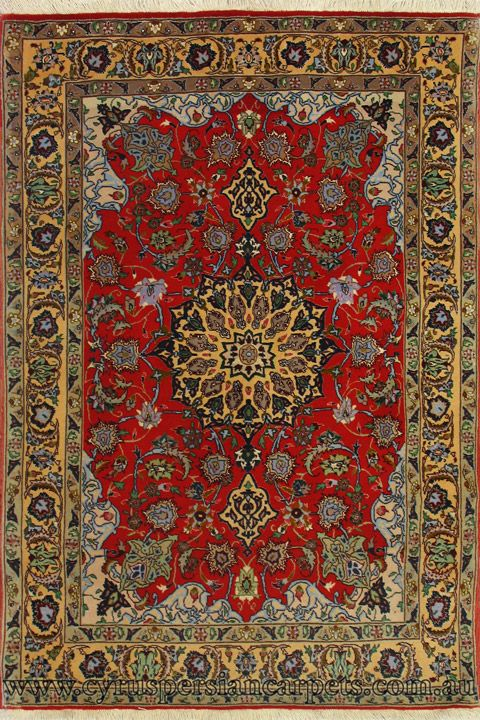 Hand Knotted Wool Silk Rug