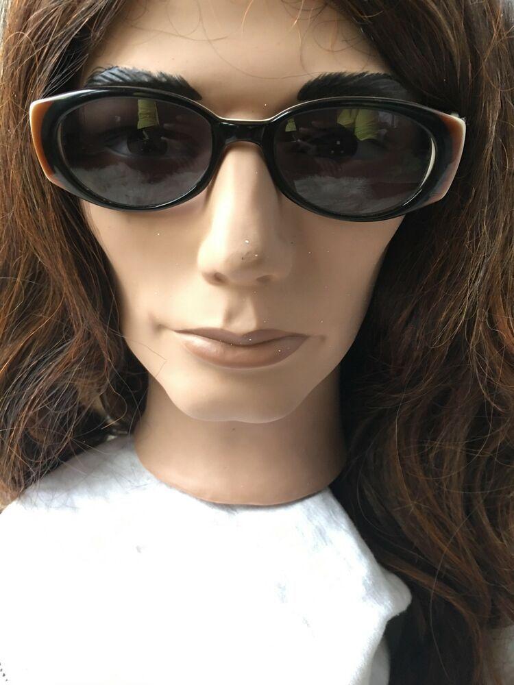 ccfb4040c11f6d Authentic Judith Leiber Swarovski Sunglasses Black   Cream Hand Made In  Italy!!!