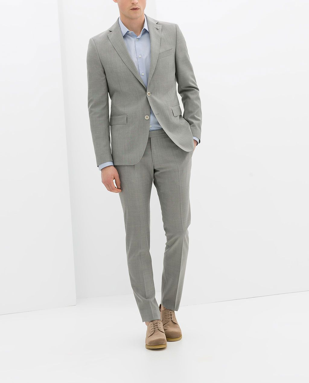 Image 1 Of Light Grey Suit From Zara Wedding Guest Suits Tux