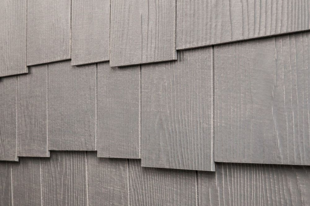 Fiber Cement Siding Rustic Shingle Panels Weathered Gray Cedar Staggered Edge 1 4 X1 Exterior Paint Colors For House Exterior Paint Exterior Paint Colors