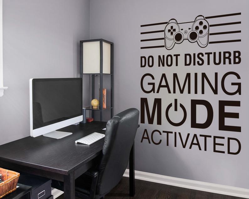 Gamer Wall Decor Gaming Mode Wall Decal Gamer Decor Gaming Etsy In 2021 Gamer Decor Boys Game Room Boys Bedroom Decor