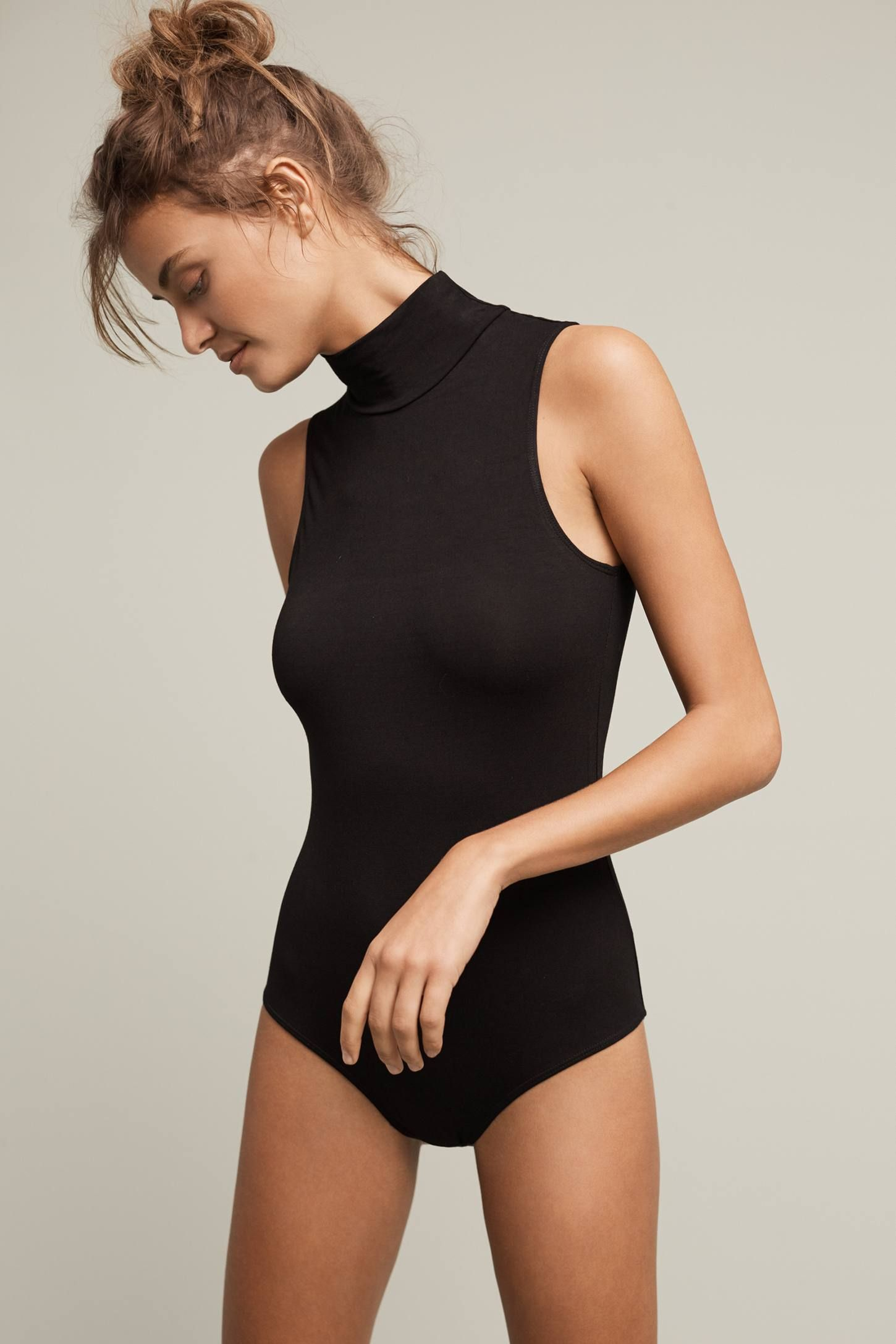 f1acf7c19ee Sleeveless Turtleneck Bodysuit in 2019 | Style | Turtleneck bodysuit ...