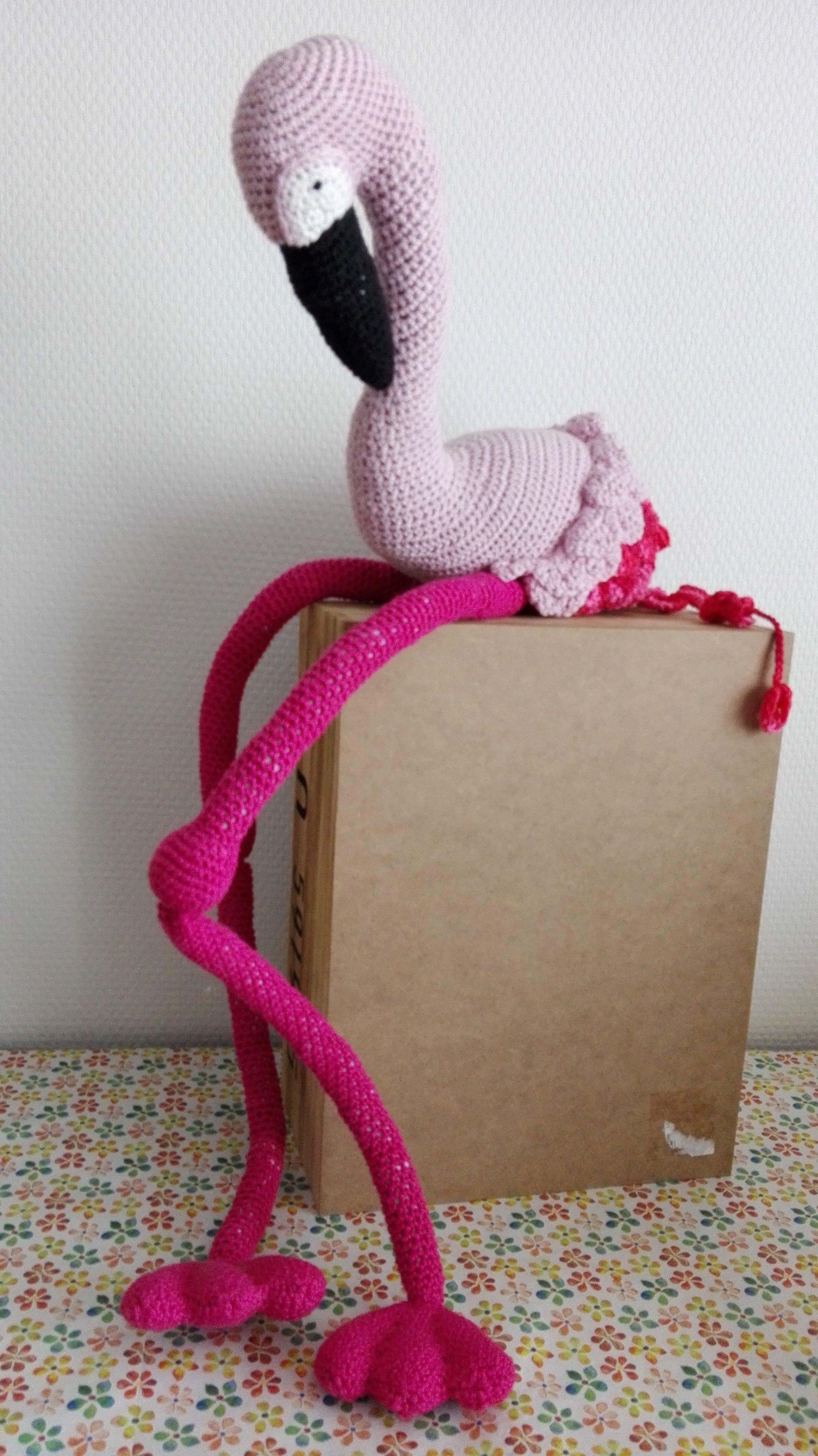 Vanessa Mooncie Crochet Wild Animals – flamingo Gehaakte wilde dieren - flamingo