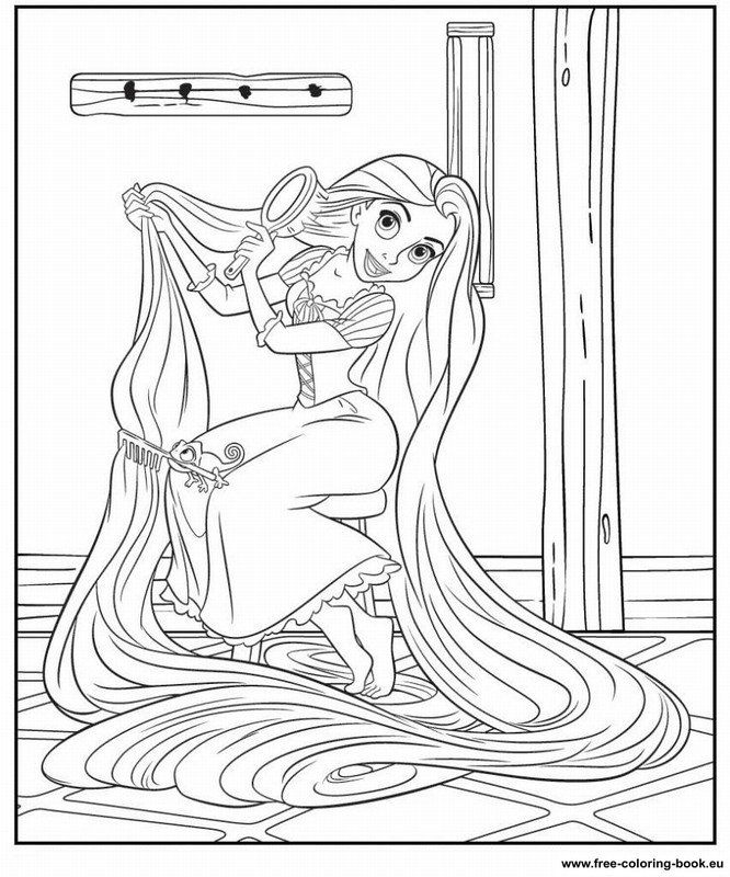tangled coloring book pages - Tangled Coloring Pages Girls