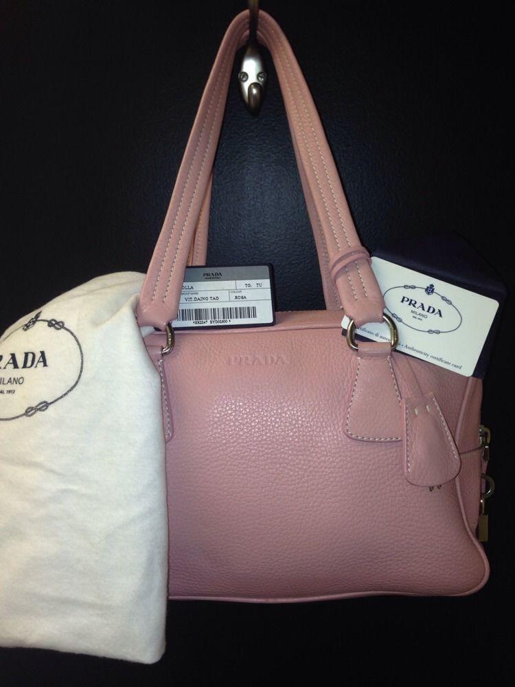 New Sale Price Prada Pink Pebbled Leather Handbag Br2247 Prada Satchel Leather Satchel
