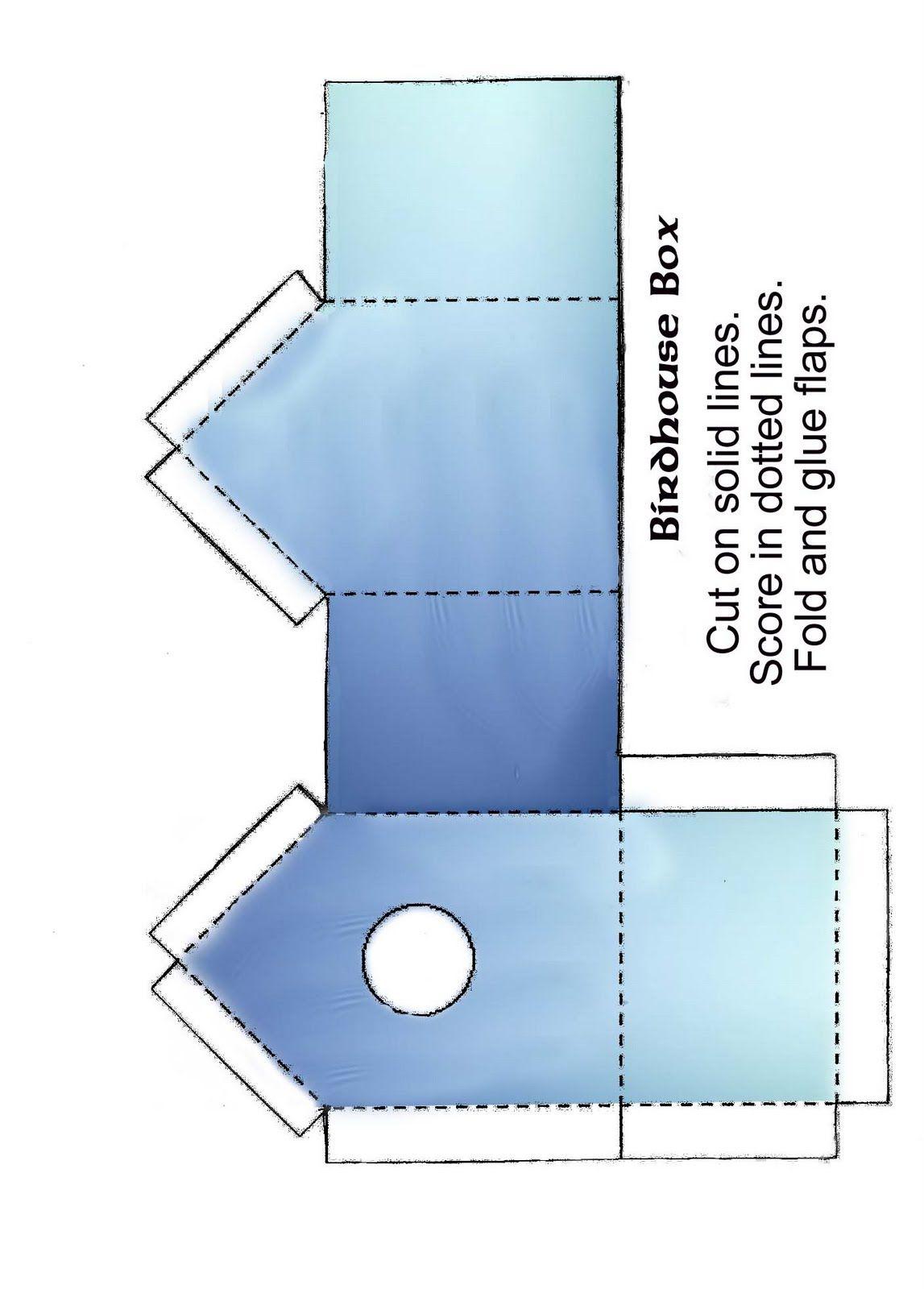 THETINCAT: Birdhouse Box Template | Casas | Bird houses