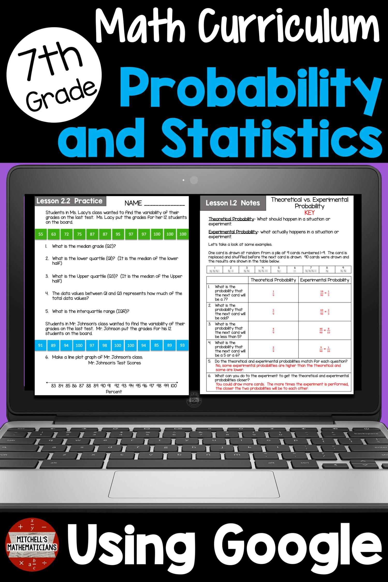 7th Grade Probability And Statistics Unit Using