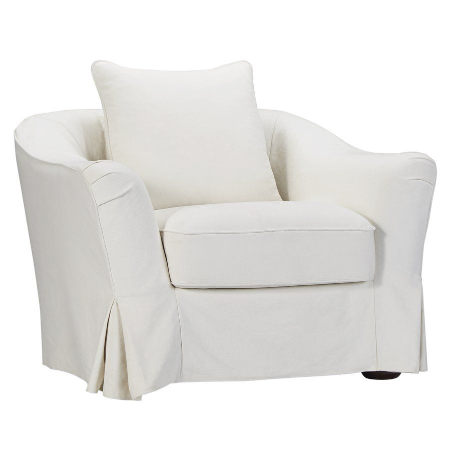 Blackwater barrel chair with images slipcovers white