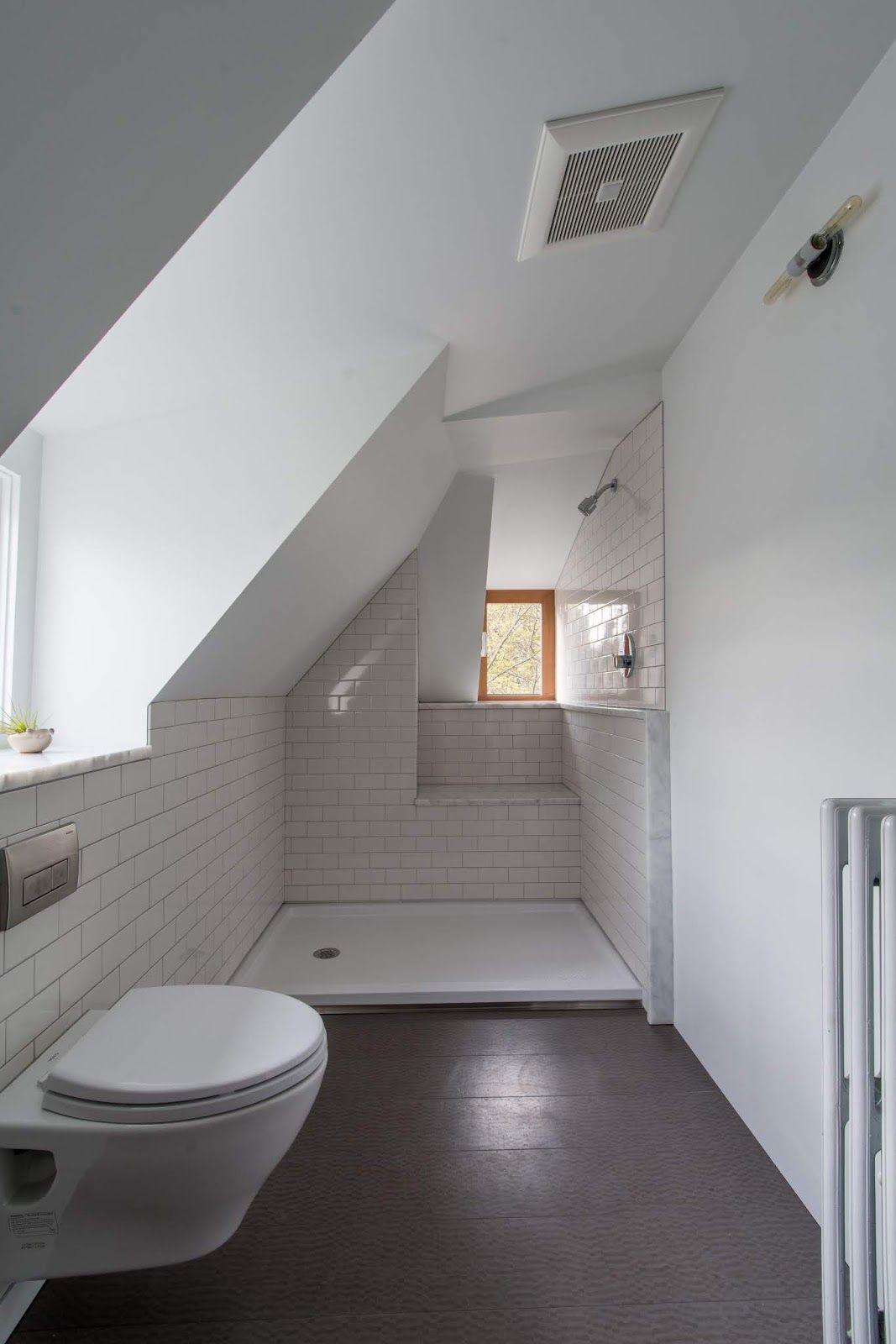 Cool Small Attic Bathroom Sloped Ceiling  Small attic bathroom