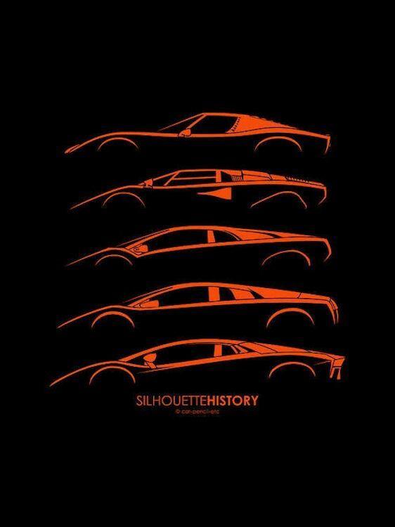 Lambo Silhouette History Cars Lamborghini
