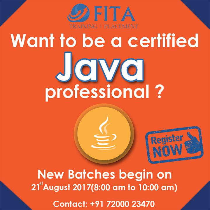 Java Training Certification Will Give Your Better Chances To Learn