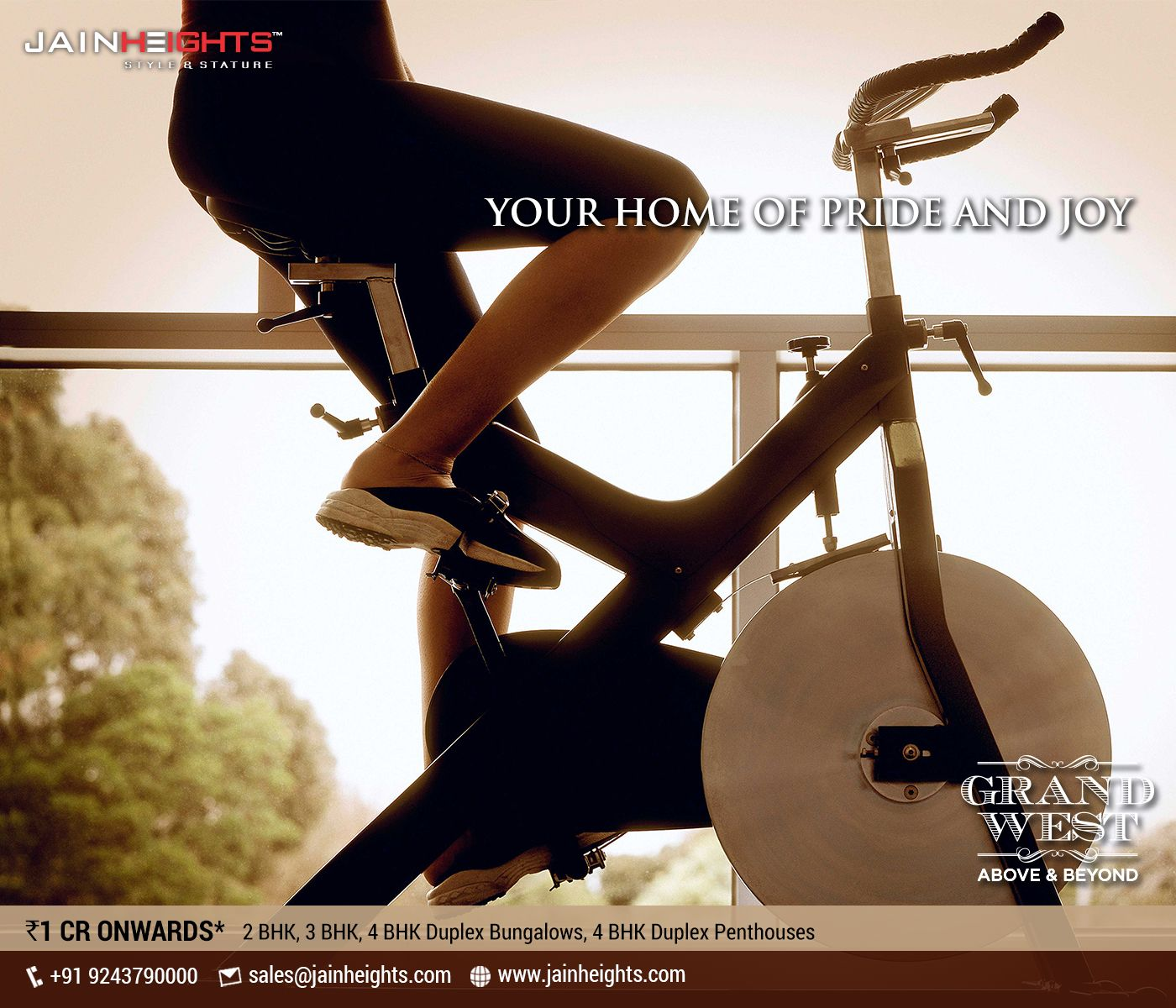 Resplendent living closer to you When you buy Jain Heights – Grand West, you make an investment in a superlative lifestyle and enduring value- an investment that we honour with a lifetime of commitment. The vaulting towers embraced by sweeping bands at Grand West form a unique and defining architectural feature. http://bit.ly/10L3muL Location: Yeshwanthpur Price: INR 1 Cr Onwards * Call: +91 92437 90000 | Sales@jainheights.com #LuxuryLiving #Bangalore #Grandwest #JainHeights