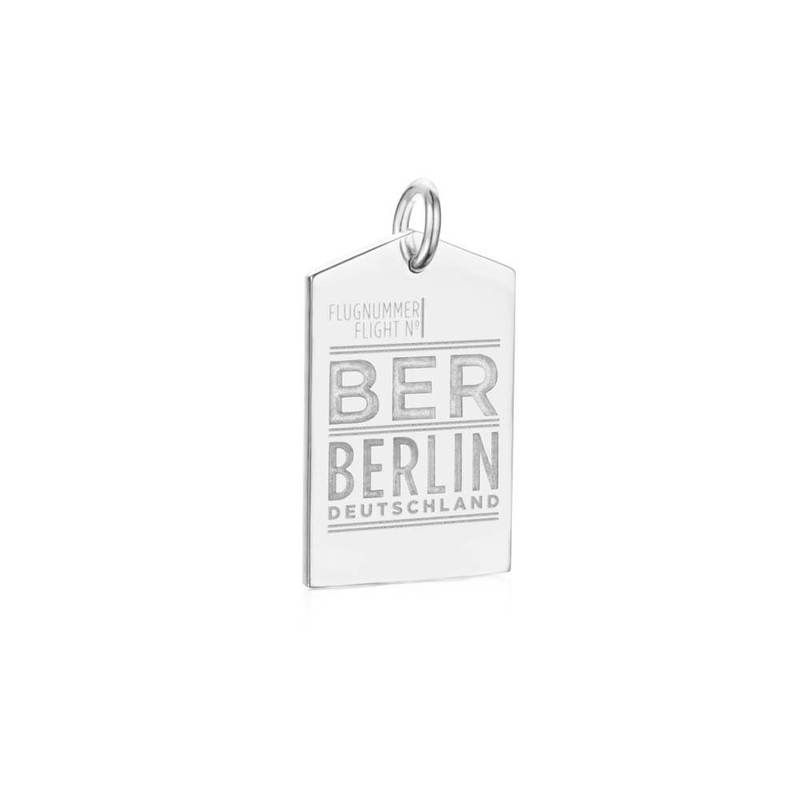 Silver Berlin Charm, BER Luggage Tag   JET SET CANDY