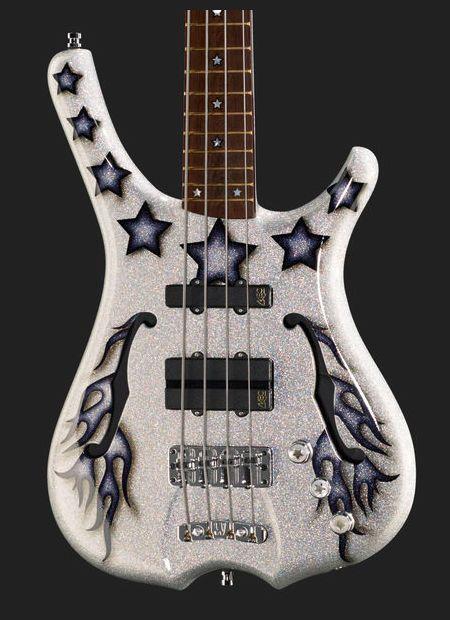 Warwick Bootsy Collins Black Star Signature E-Bass - silver