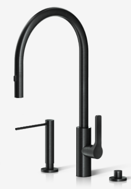 kitchen the galley faucet in satin