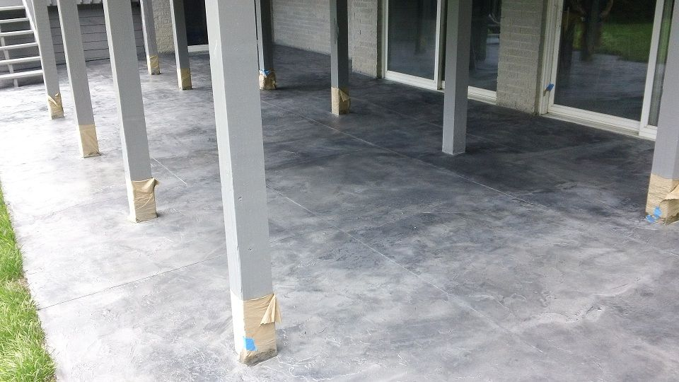 stained concrete patio gray. How To Repair Concrete With Overlay Resurfacing Products - YouTube | Projects Try Pinterest Concrete, Asphalt And Patios Stained Patio Gray