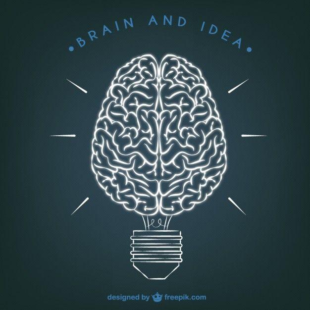 Cérebro e Idea ilustração | Anatomía, Dibujo y Medicina