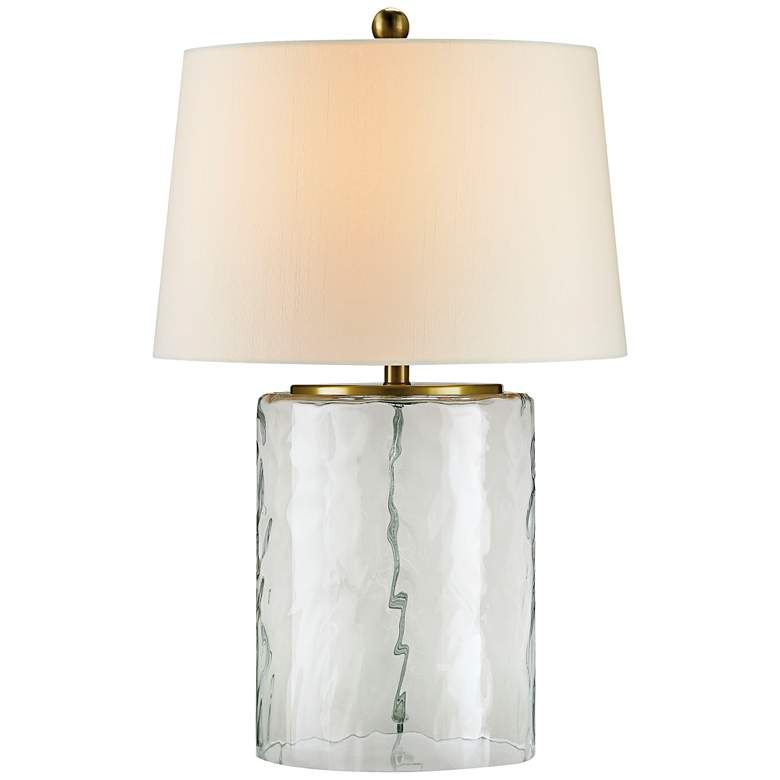 Currey And Company Oscar Clear Water Glass Table Lamp 8w123 Lamps Plus Table Lamp Brass Table Lamps Vintage Table Lamp