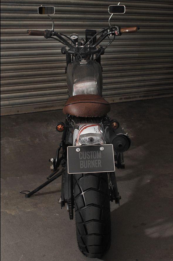 Custom Tw200 Metal Slug Custom Burner Tw200 Yamaha Tw200 Custom