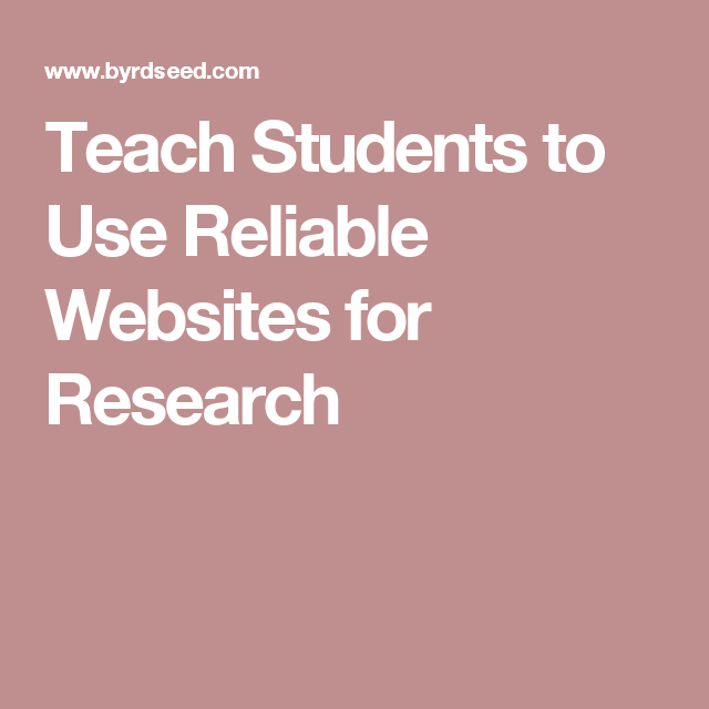 reputable websites for research